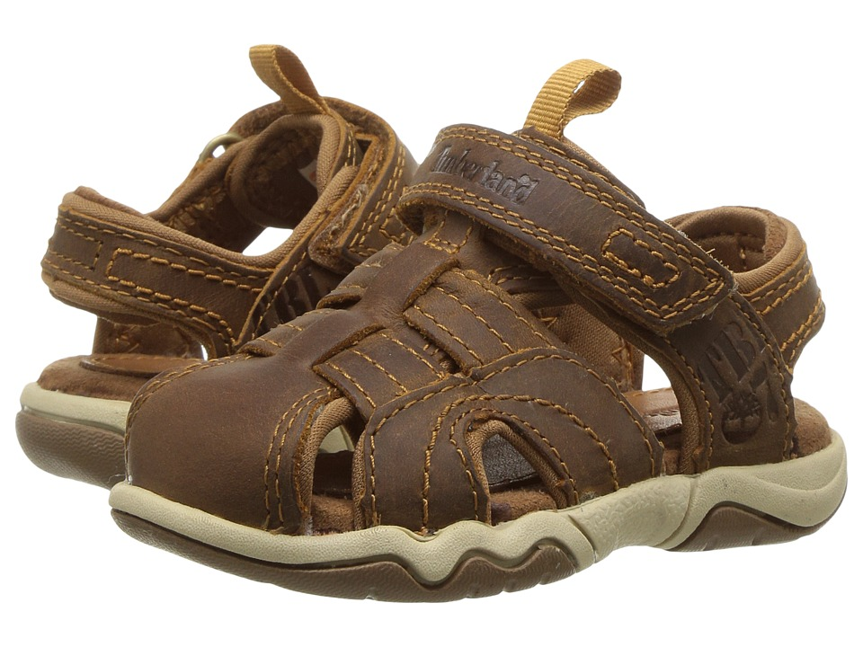 Timberland Kids - Oak Bluffs Leather Fisherman (Toddler/Little Kid) (Rust Nubuck) Boy's Shoes