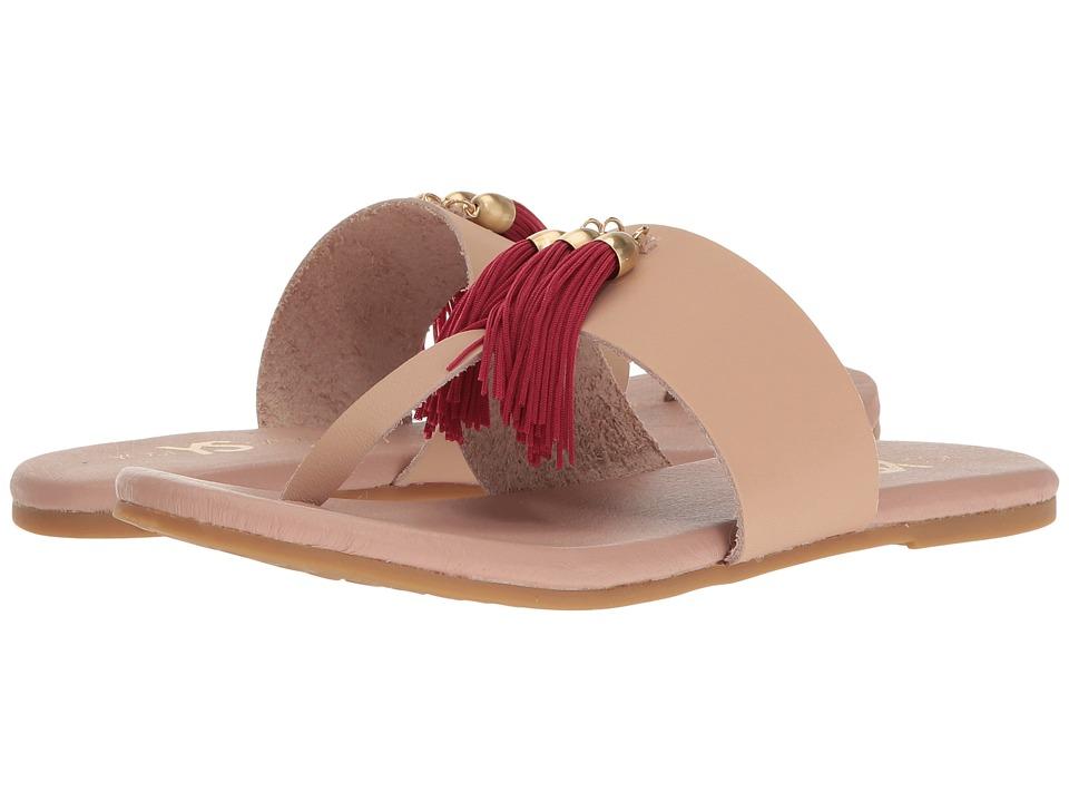 Yosi Samra - Rachelle (Sand/Annato Red) Women's Flat Shoes