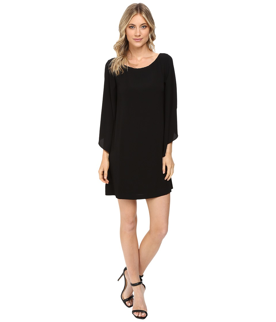Jessica Simpson - Flutter Sleeve Dress (Black) Women's Dress