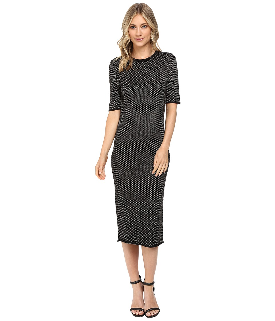 Jessica Simpson - Sweater Knit Dress (Black/Gold) Women's Dress