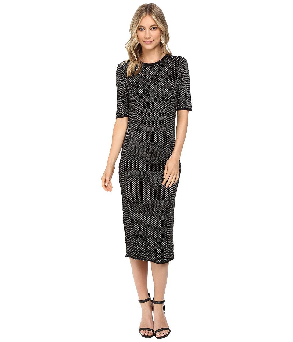 Jessica Simpson - Sweater Knit Dress (Black/Gold) Women's Dress