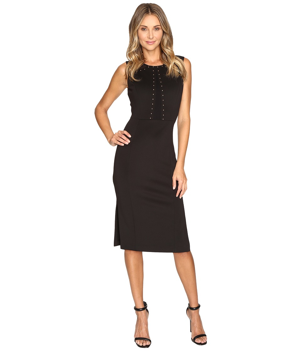 Jessica Simpson - Scuba Midi with Heatfix Detail (Black) Women's Dress