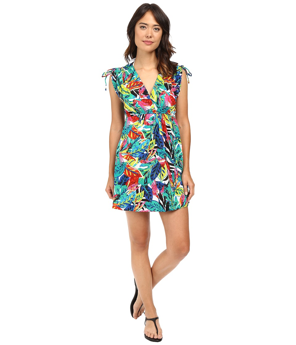 LAUREN Ralph Lauren - Rainforest Tropical Farrah Dress Cover-Up (Multi) Women's Swimwear