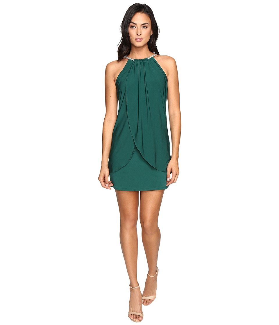 Jessica Simpson - Ity Dress with Embellished Halter Necklace (Emerald) Women's Dress