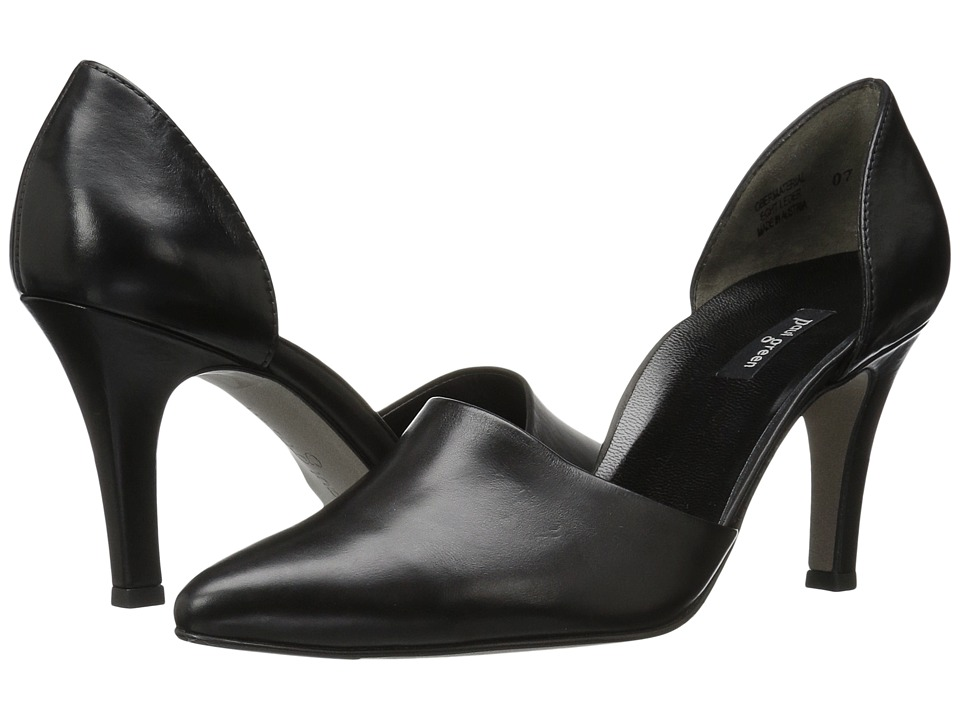 Paul Green Char Heel (Black Leather) Women
