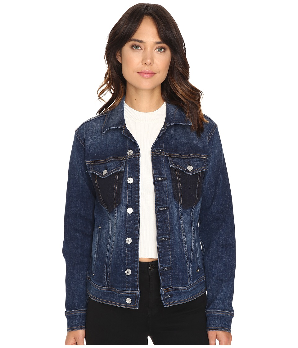 7 For All Mankind - Denim Jacket w/ Shadow Pockets in Medium Shadow Blue (Medium Shadow Blue) Women's Coat