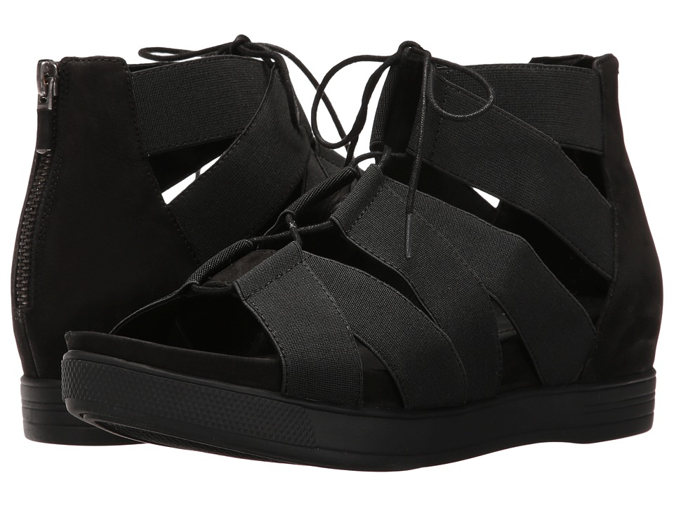 Eileen Fisher - Link (Black Elastic) Women's Sandals