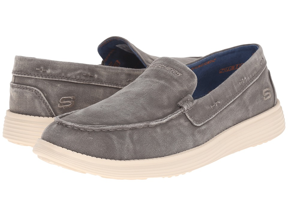 SKECHERS - Relaxed Fit Status - Ramino (Olive Canvas) Men's Slip on Shoes