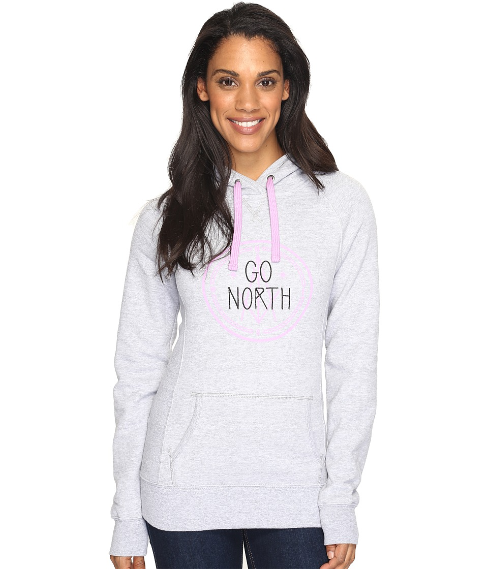 The North Face - Avalon Compass Pullover Hoodie (TNF Light Grey Heather (Prior Season)) Women's Sweatshirt