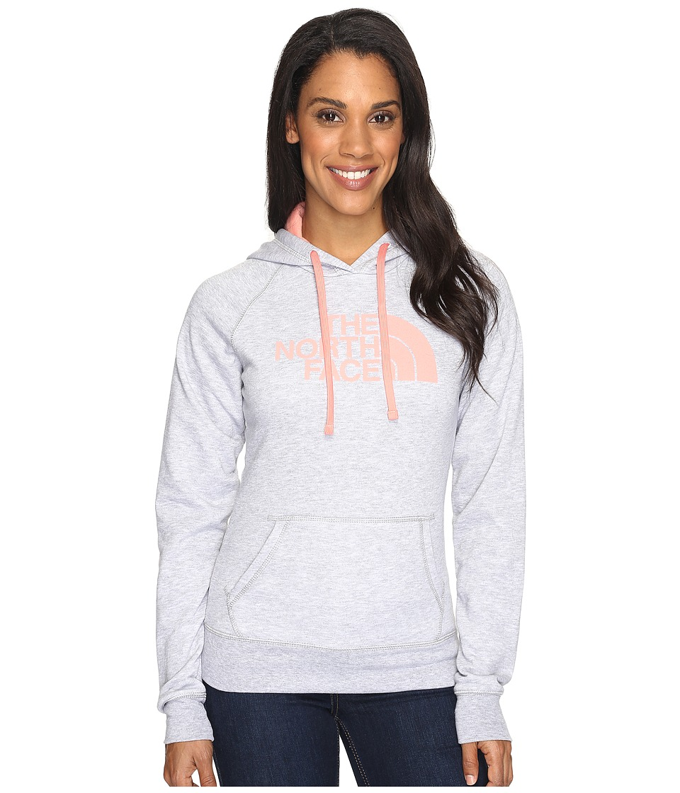 The North Face - Half Dome Hoodie (TNF Light Grey Heather/Burnt Coral (Prior Season)) Women's Sweatshirt