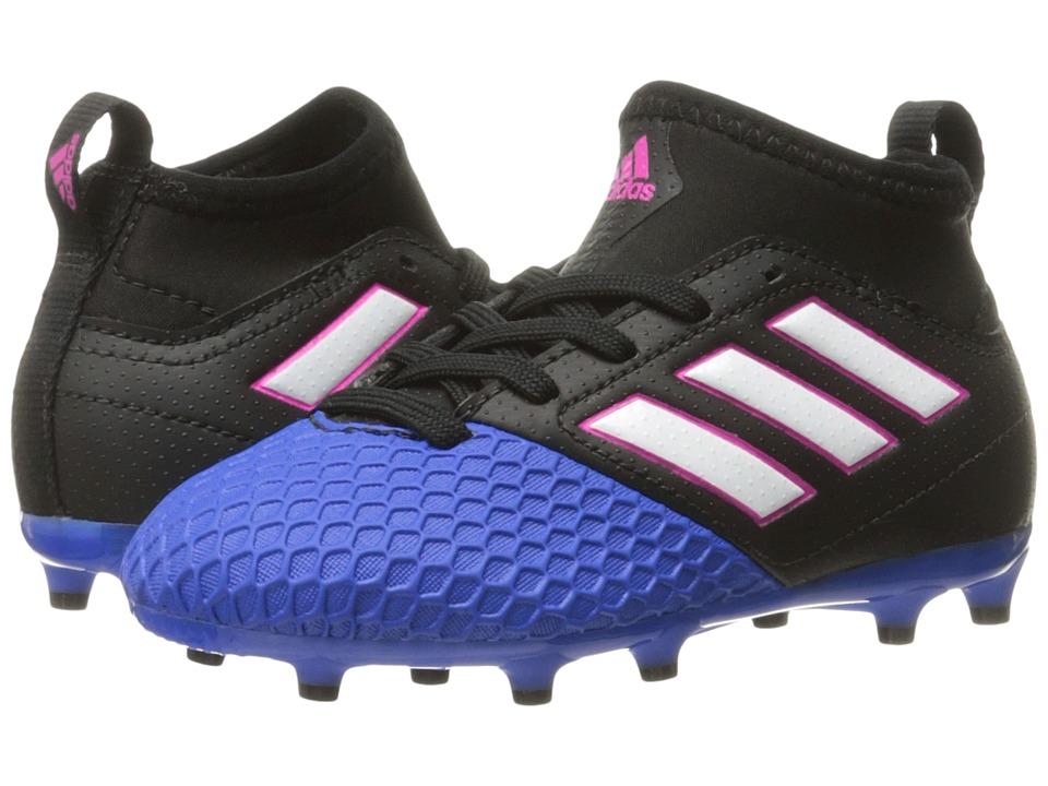 adidas Kids Ace 17.3 Primemesh FG Soccer (Little Kid/Bid Kid) (Core Black/Footwear White/Blue) Kids Shoes