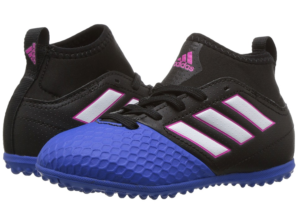 adidas Kids - Ace 17.3 Primemesh TF Soccer (Little Kid/Big Kid) (Core Black/Footwear White/Blue) Kids Shoes