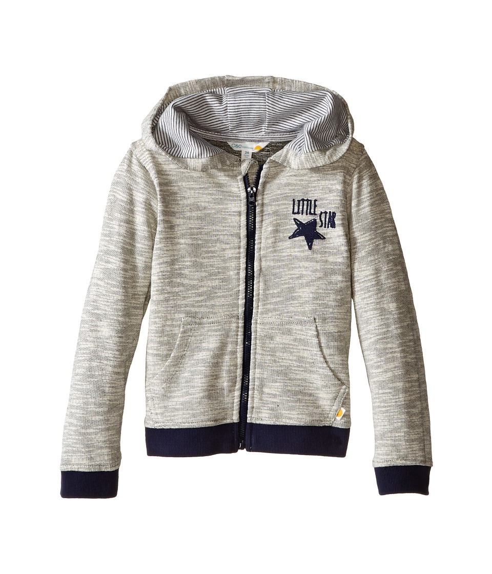 C&C California Kids - French Terry Contrast Hoodie (Infant) (Medium Grey Heather) Boy's Sweatshirt