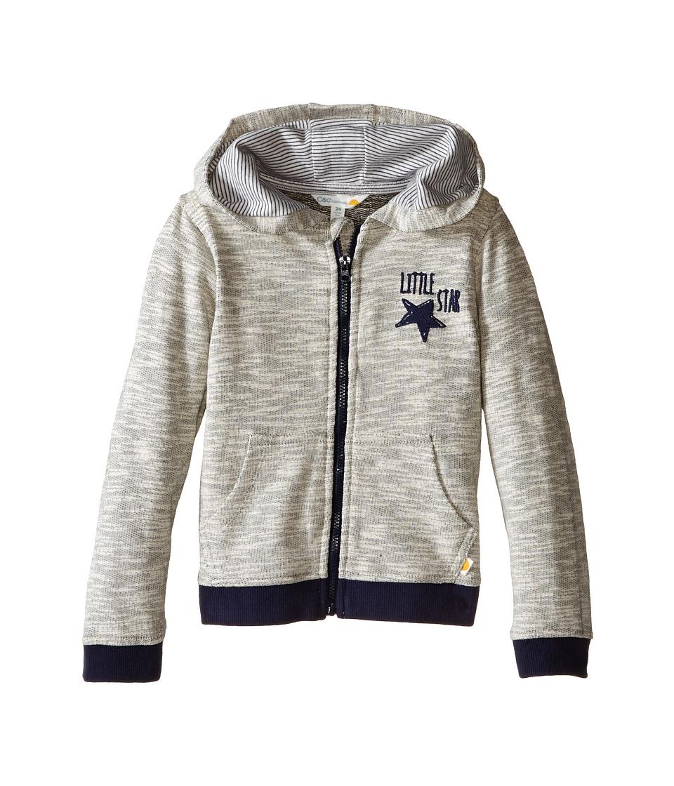 C&C California Kids - French Terry Contrast Hoodie (Infant) (Medium Grey Heather) Boy's Sweatshirt