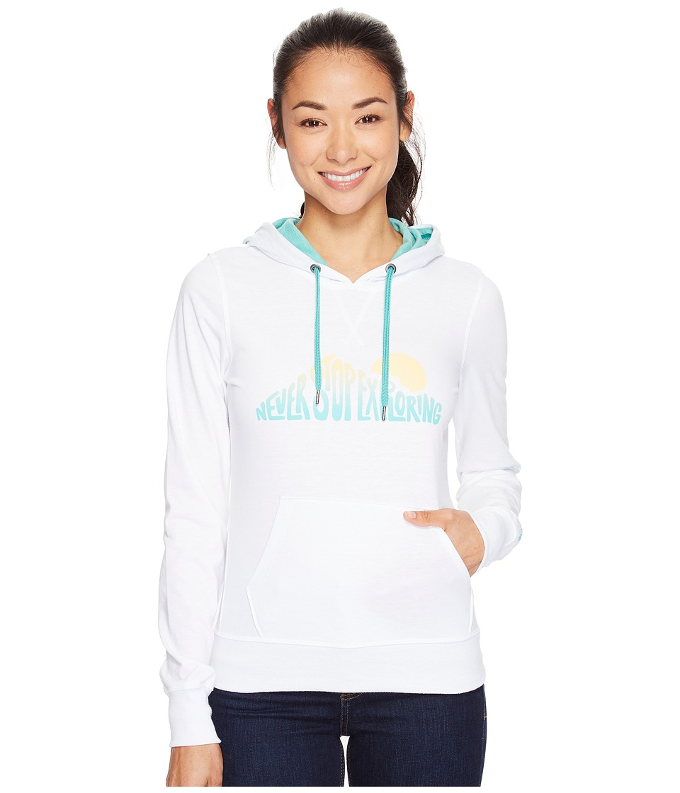 The North Face NSE Sunrise Lightweight Pullover Hoodie (TNF White Heather (Prior Season)) Women