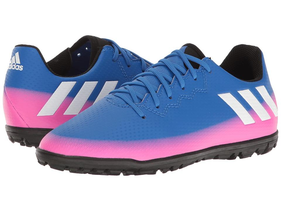 adidas Kids - Messi 16.3 TF Soccer (Little Kid/Bid Kid) (Blue/Footwear White/Solar Orange) Kids Shoes
