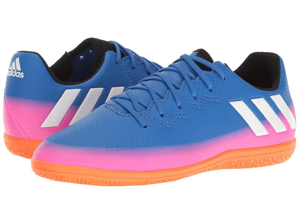 adidas Kids - Messi 16.3 IN Soccer (Little Kid/Big Kid) (Blue/Footwear White/Solar Orange) Kids Shoes