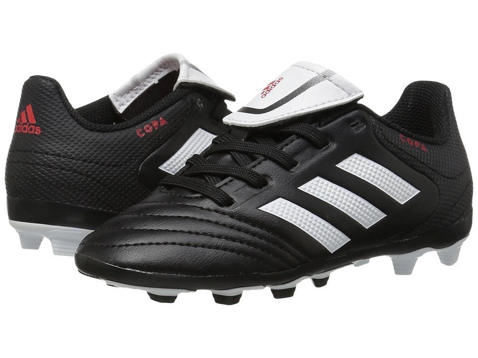 adidas Kids Copa 17.4 FxG Soccer (Little Kid/Big Kid) (Core Black/Footwear White) Kids Shoes