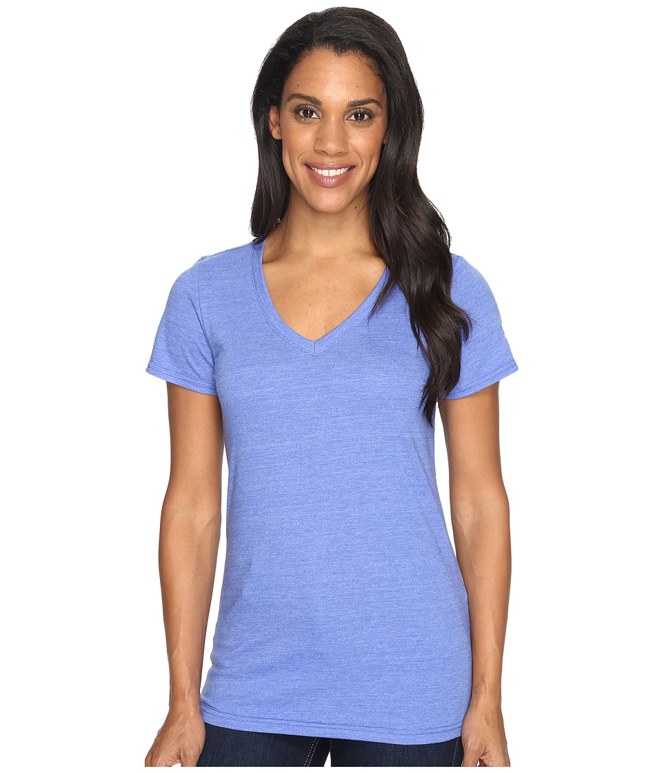 The North Face - Short Sleeve Boyfriend Tri-Blend Tee (Amparo Blue Heather/Lavender Blue (Prior Season)) Women's T Shirt