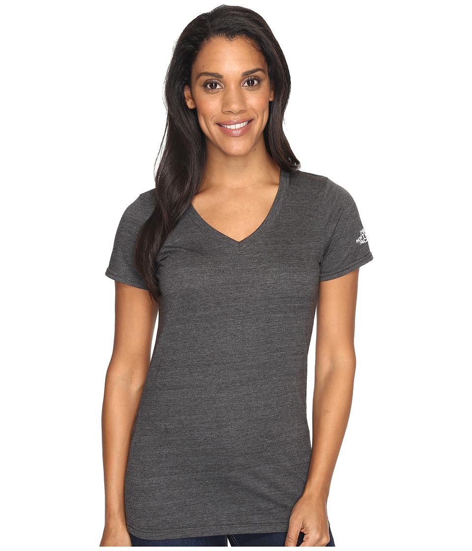 The North Face - Short Sleeve Boyfriend Tri-Blend Tee (TNF Dark Grey Heather/TNF White (Prior Season)) Women's T Shirt