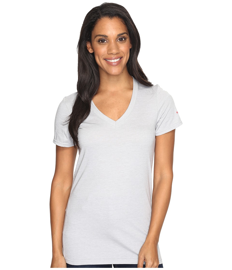 The North Face - Short Sleeve Boyfriend Tri-Blend Tee (TNF Light Grey Heather/Honeysuckle Pink (Prior Season)) Women's T Shirt