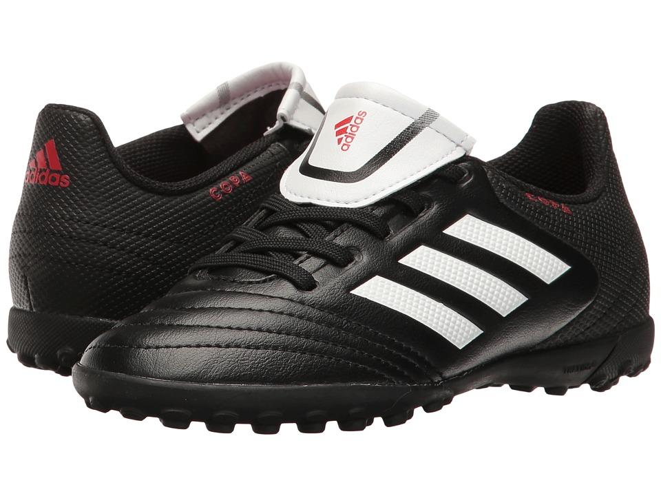 adidas Kids - Copa 17.4 TF Soccer (Little Kid/Big Kid) (Core Black/Footwear White) Kids Shoes