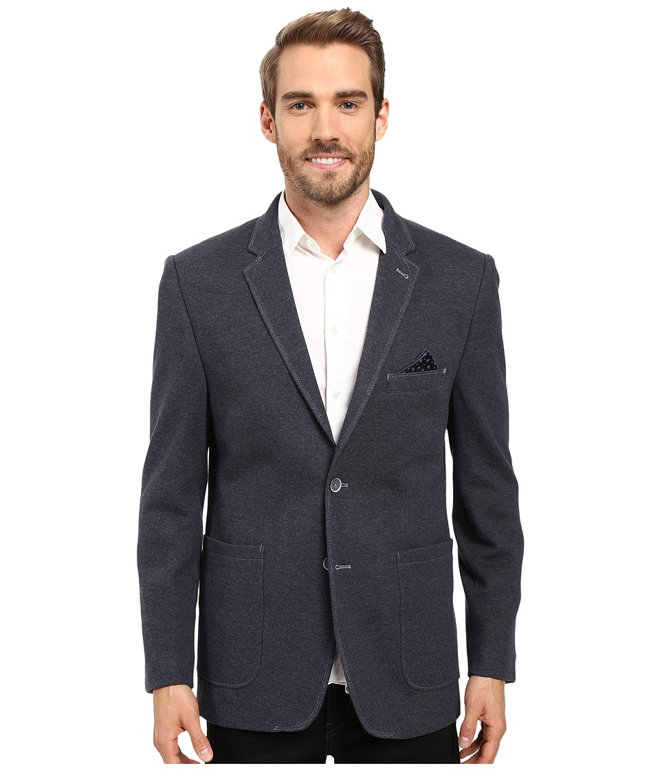 BUGATCHI - Nino Knit Blazer (Navy) Men's Jacket