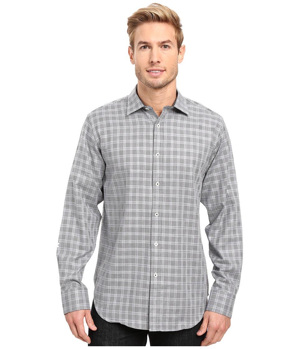 BUGATCHI - Fredrico Long Sleeve Woven Shirt (Midnight) Men's Long Sleeve Button Up