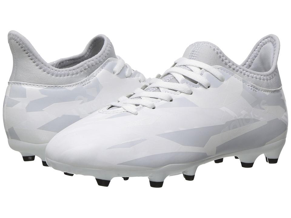 adidas Kids X 16.3 FG (Little Kid/Big Kid) (Footwear White/Clear Grey) Kids Shoes