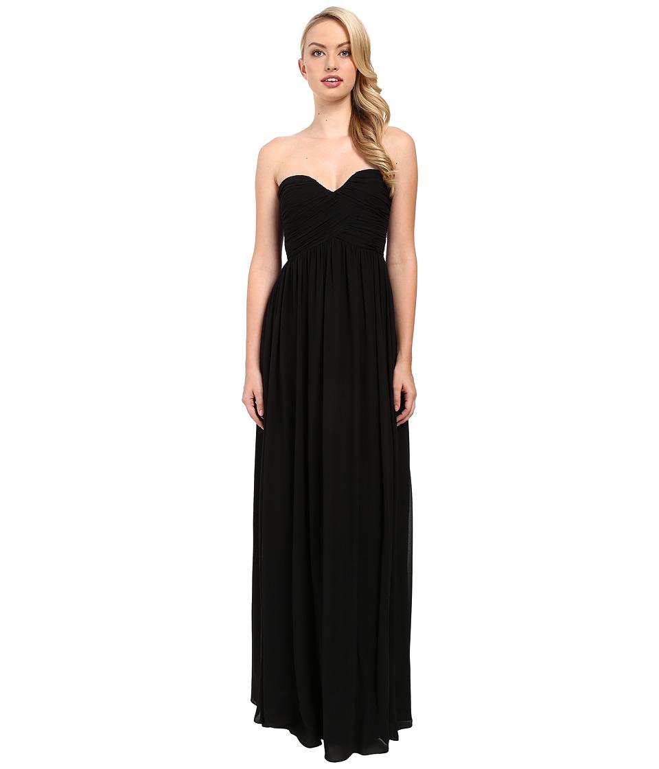 Donna Morgan - Laura Long Chiffon Gown Dress (Black) Women's Dress