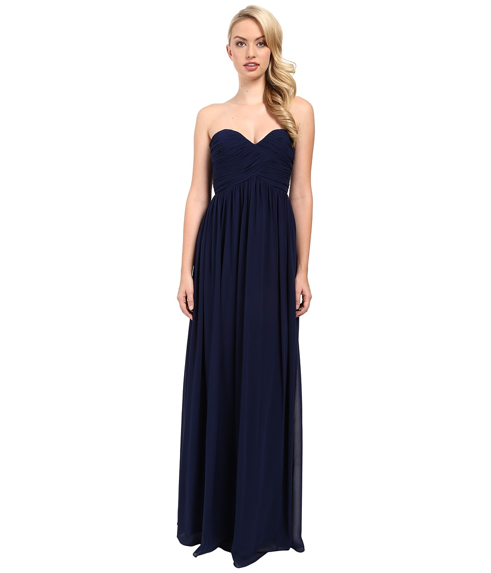 Donna Morgan - Laura Long Chiffon Gown Dress (Midnight) Women's Dress