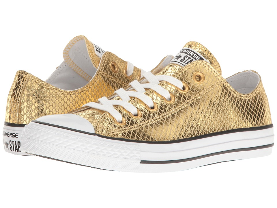 Converse - Chuck Taylor All Star Metallic Snake Ox (Gold/Black/White) Women's Shoes