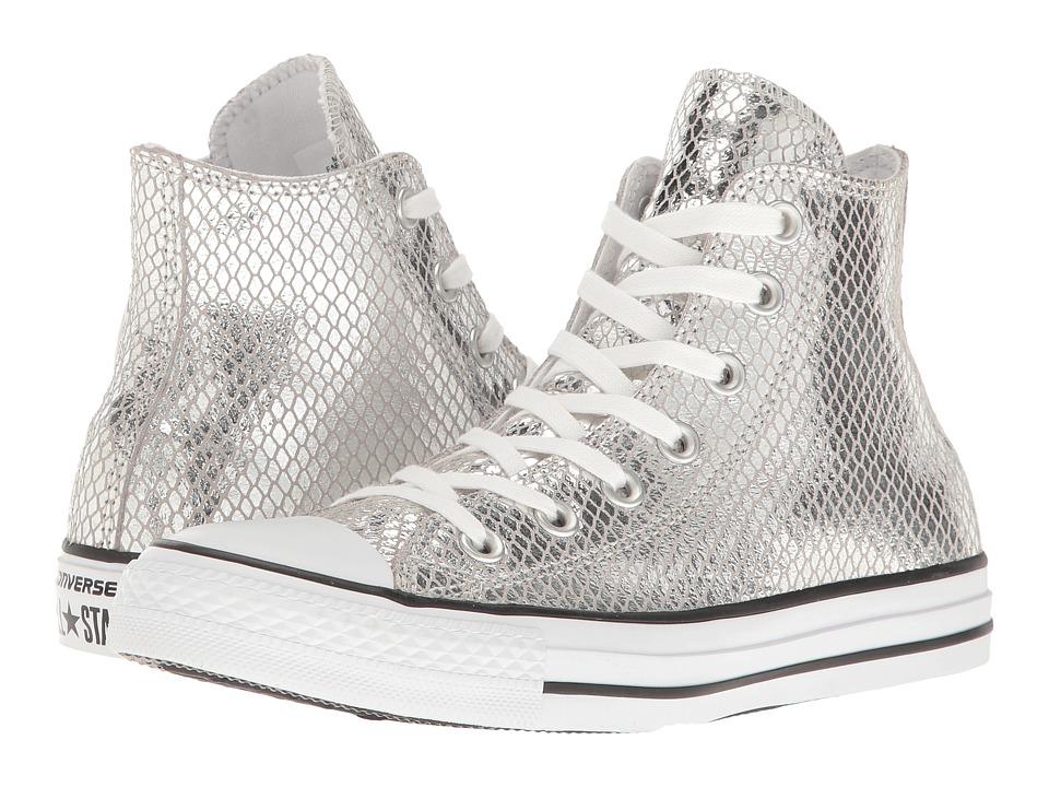 Converse Chuck Taylor All Star Metallic Snake Hi (Silver/Black/White) Women