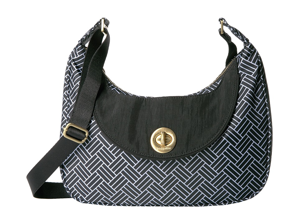 Baggallini - Oslo Small Hobo (Basket Weave) Handbags