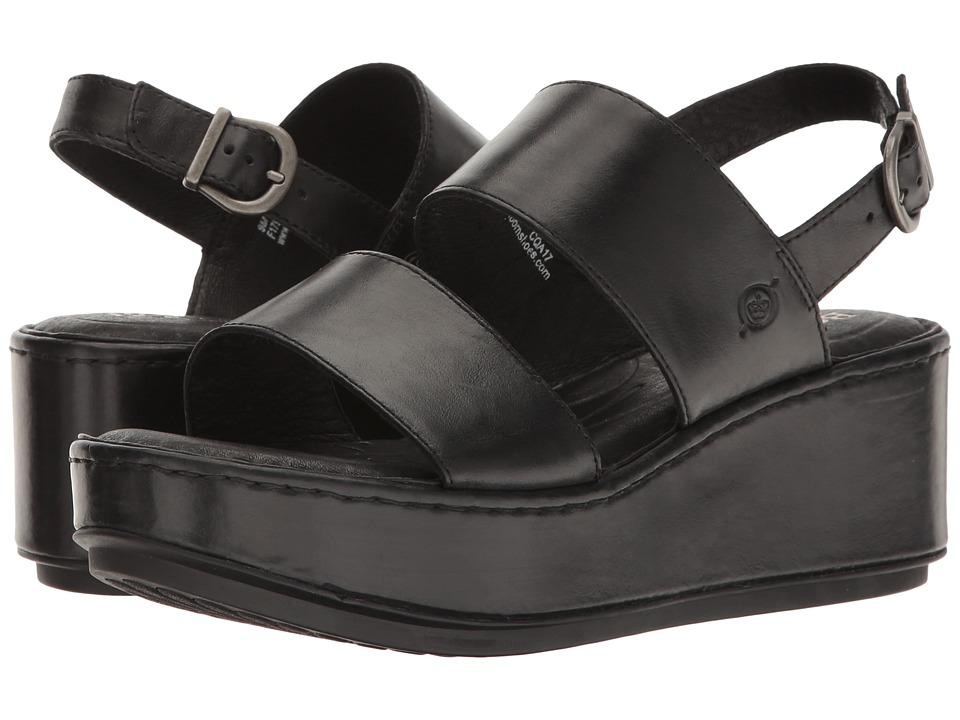 Born - Silay (Black Full Grain) Women's Clog/Mule Shoes