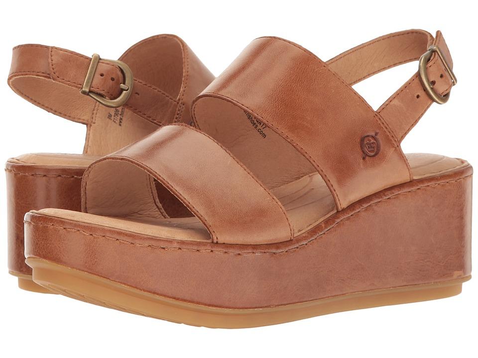 Born - Silay (Brown Full Grain) Women's Clog/Mule Shoes