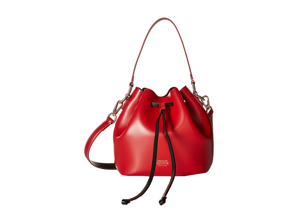 Frances Valentine - Mini Ann Leather Bucket Bag (Red) Handbags