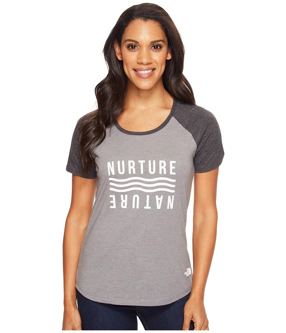 The North Face - Short Sleeve Nurture Baseball Tee (TNF Medium Grey Heather/TNF Dark Grey Heather (Prior Season)) Women's T Shirt