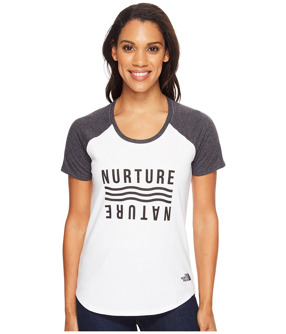 The North Face - Short Sleeve Nurture Baseball Tee (TNF White/TNF Black Heather (Prior Season)) Women's T Shirt