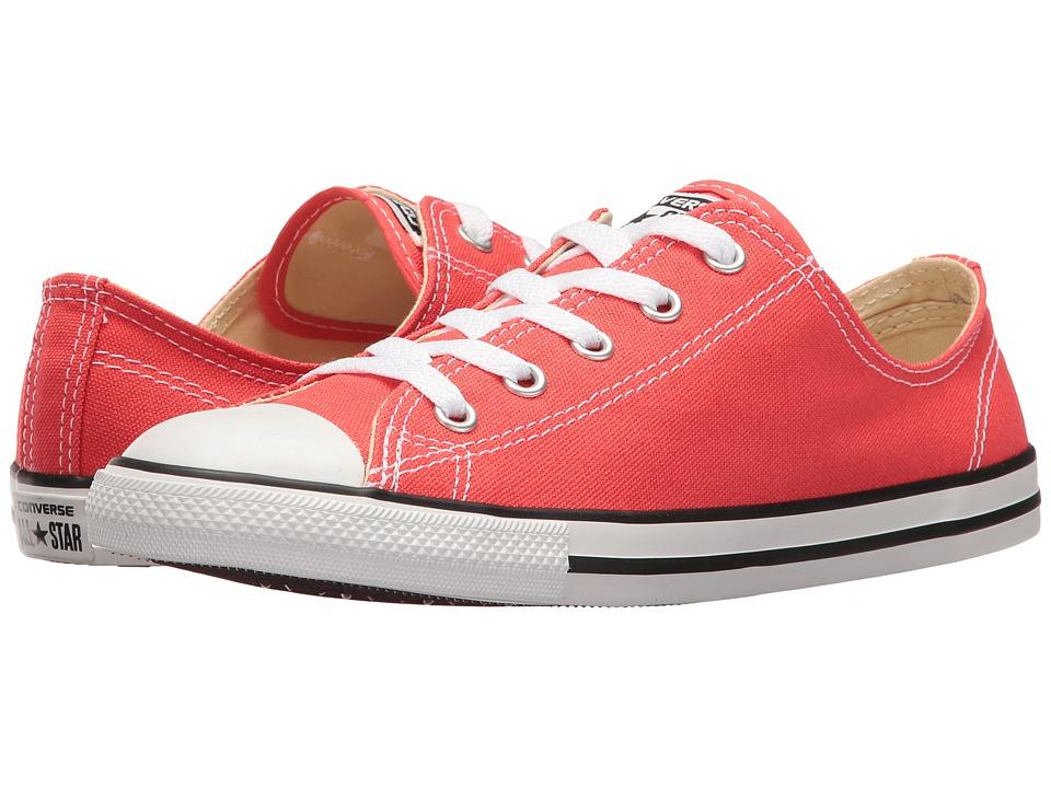 Converse - Chuck Taylor(r) All Star(r) Dainty - Seasonal Ox (Ultra Red/Black/White) Women's Shoes