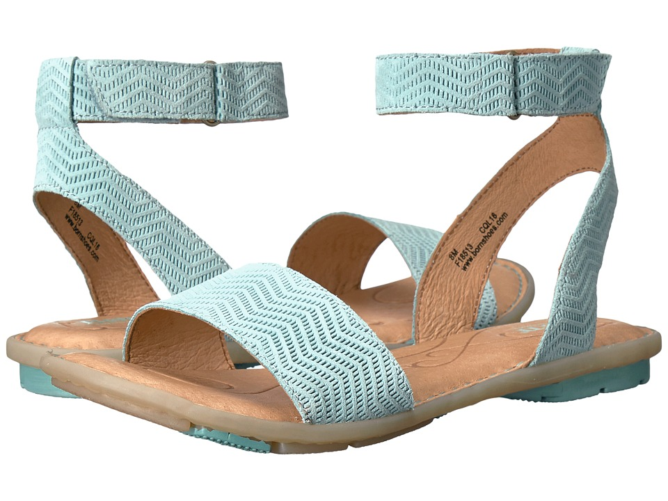 Born - Tegal (Turquoise Suede) Women's Dress Sandals