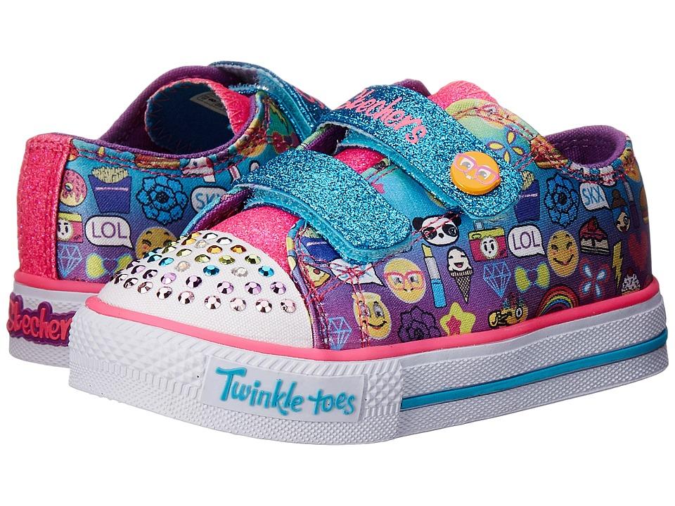 SKECHERS KIDS - Twinkle Toes-Pixel Time 10680N Lights (Toddler) (Multi) Girl's Shoes