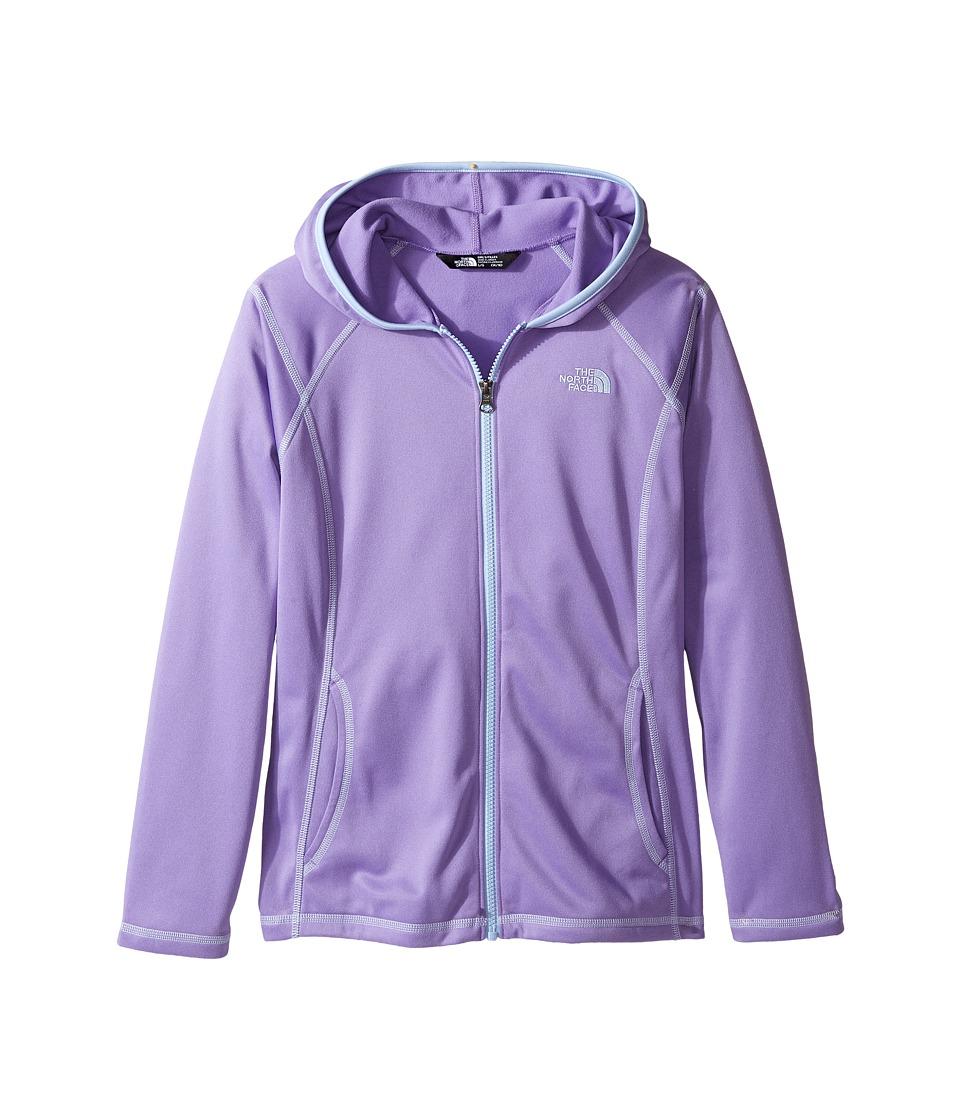 The North Face Kids - Tech Glacier Full Zip Hoodie (Little Kids/Big Kids) (Paisley Purple (Prior Season)) Girl's Sweatshirt