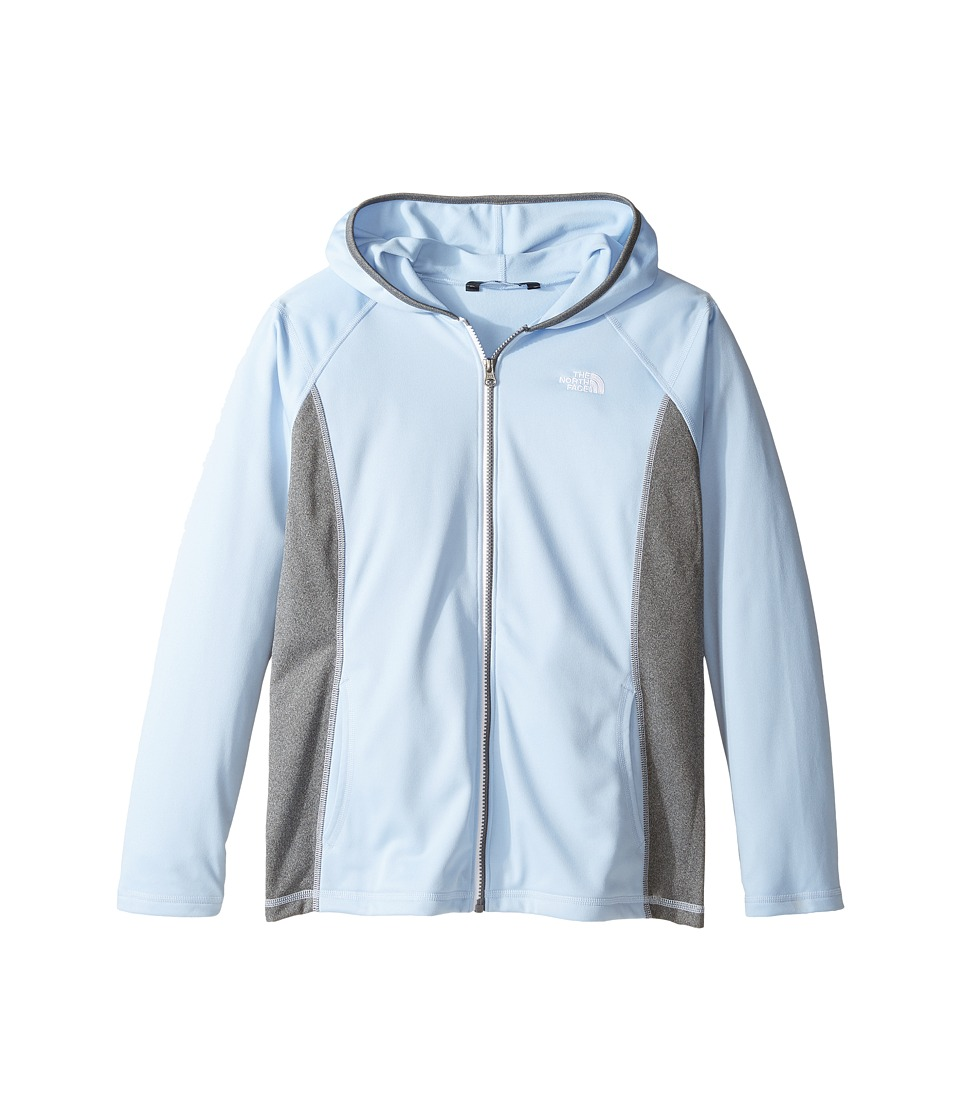 The North Face Kids - Tech Glacier Full Zip Hoodie (Little Kids/Big Kids) (Chambray Blue (Prior Season)) Girl's Sweatshirt