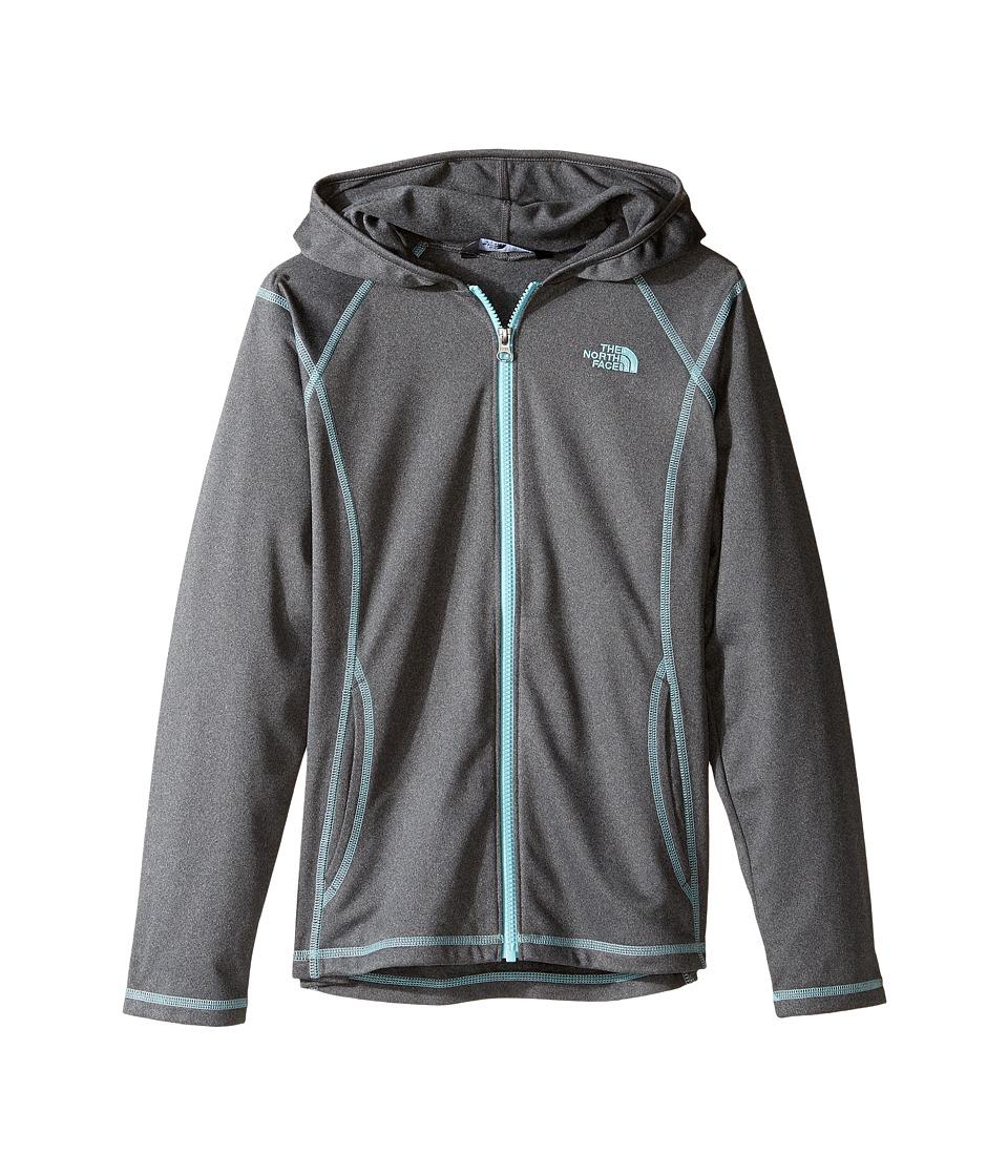 The North Face Kids - Tech Glacier Full Zip Hoodie (Little Kids/Big Kids) (TNF Medium Grey Heather (Prior Season)) Girl's Sweatshirt