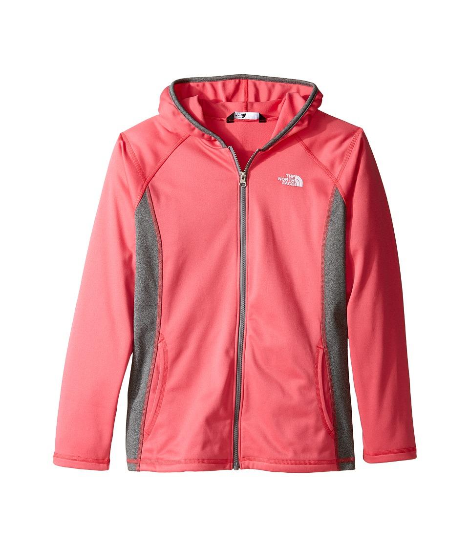 The North Face Kids - Tech Glacier Full Zip Hoodie (Little Kids/Big Kids) (Honeysuckle Pink (Prior Season)) Girl's Sweatshirt