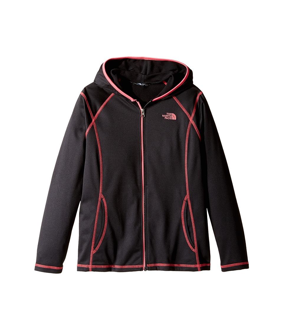 The North Face Kids - Tech Glacier Full Zip Hoodie (Little Kids/Big Kids) (TNF Black (Prior Season)) Girl's Sweatshirt