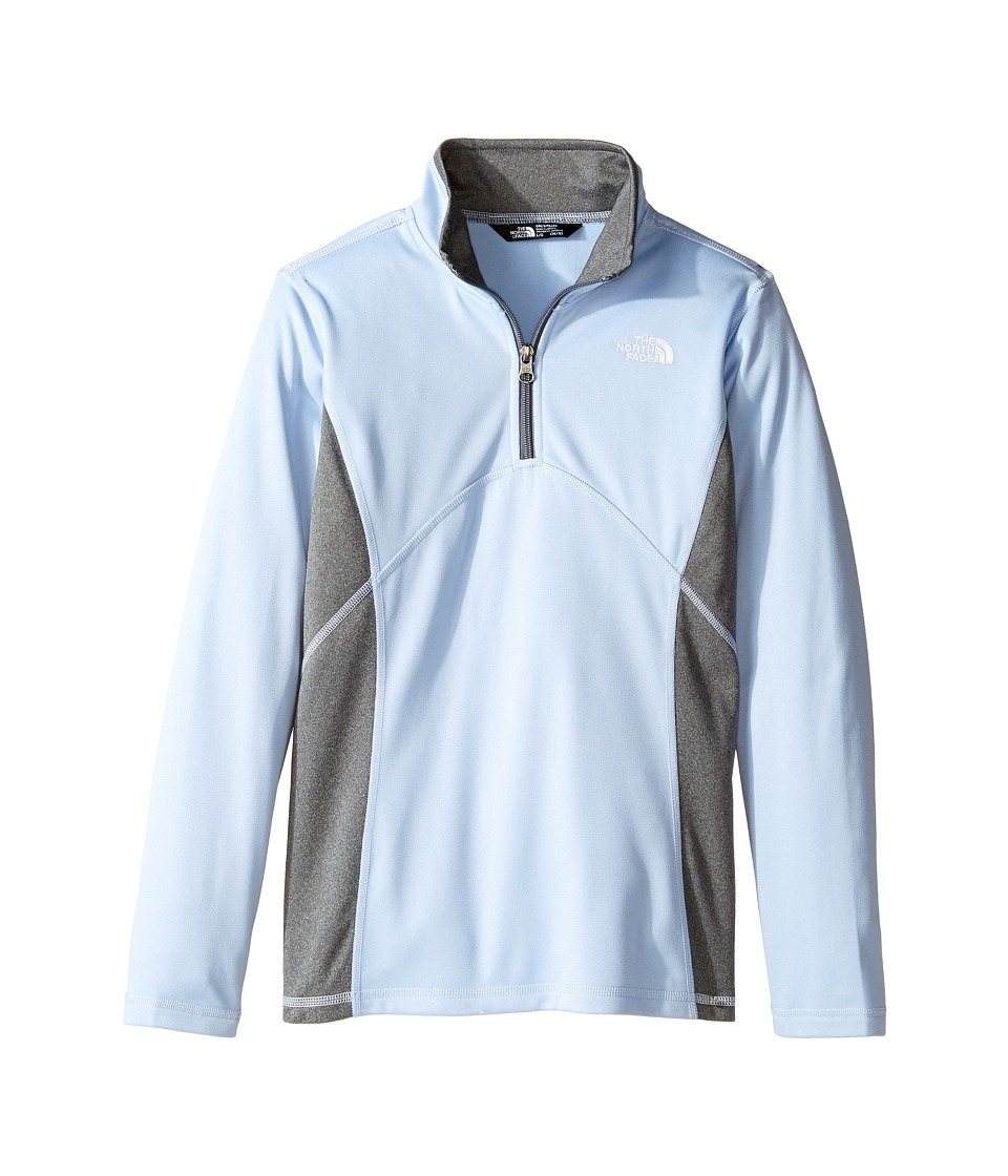 The North Face Kids - Tech Glacier 1/4 Zip (Little Kids/Big Kids) (Chambray Blue (Prior Season)) Girl's Long Sleeve Pullover