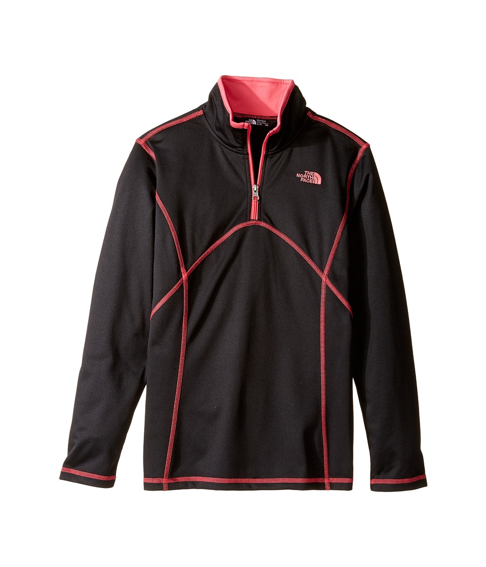 The North Face Kids - Tech Glacier 1/4 Zip (Little Kids/Big Kids) (TNF Black (Prior Season)) Girl's Long Sleeve Pullover