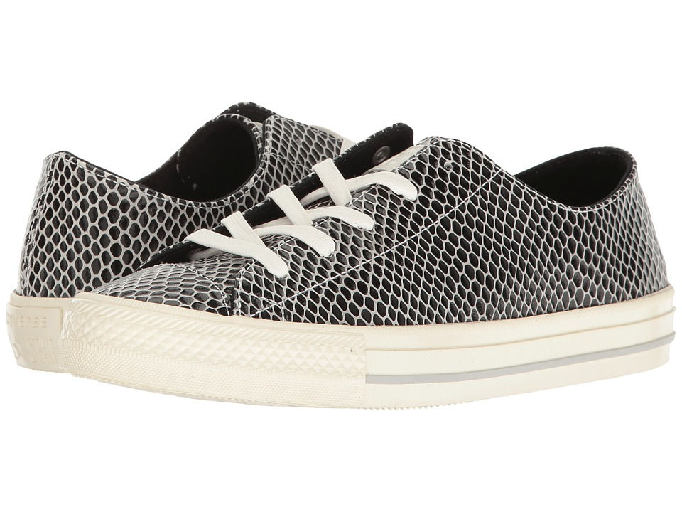 Converse - Chuck Taylor All Star Gemma Selene Snake Ox (Black/Mouse/Egret) Women's Shoes